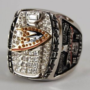 2007 Stanley Cup Champs Anaheim Ducks Salesman Sample OVERSIZED Owners Ring