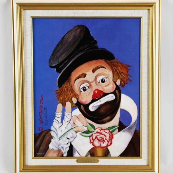 """Red Skelton Signed """"No Place To Go"""" 14x18 Lithograph"""