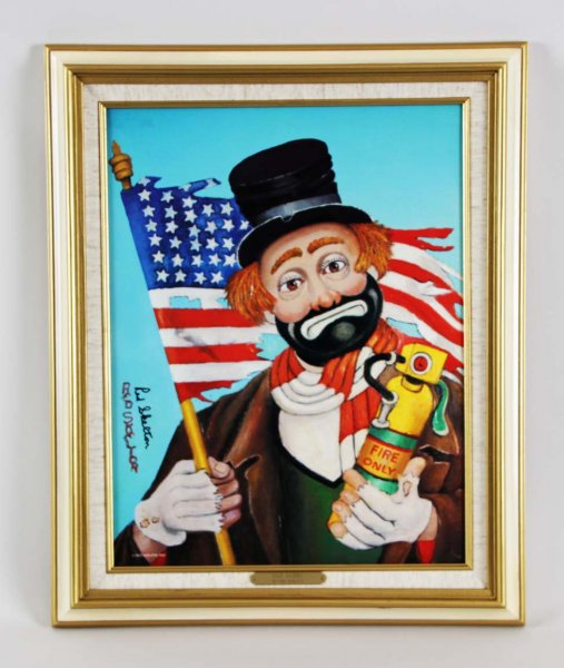 "Red Skelton Signed ""Old Glory"" 14x18 Lithograph"
