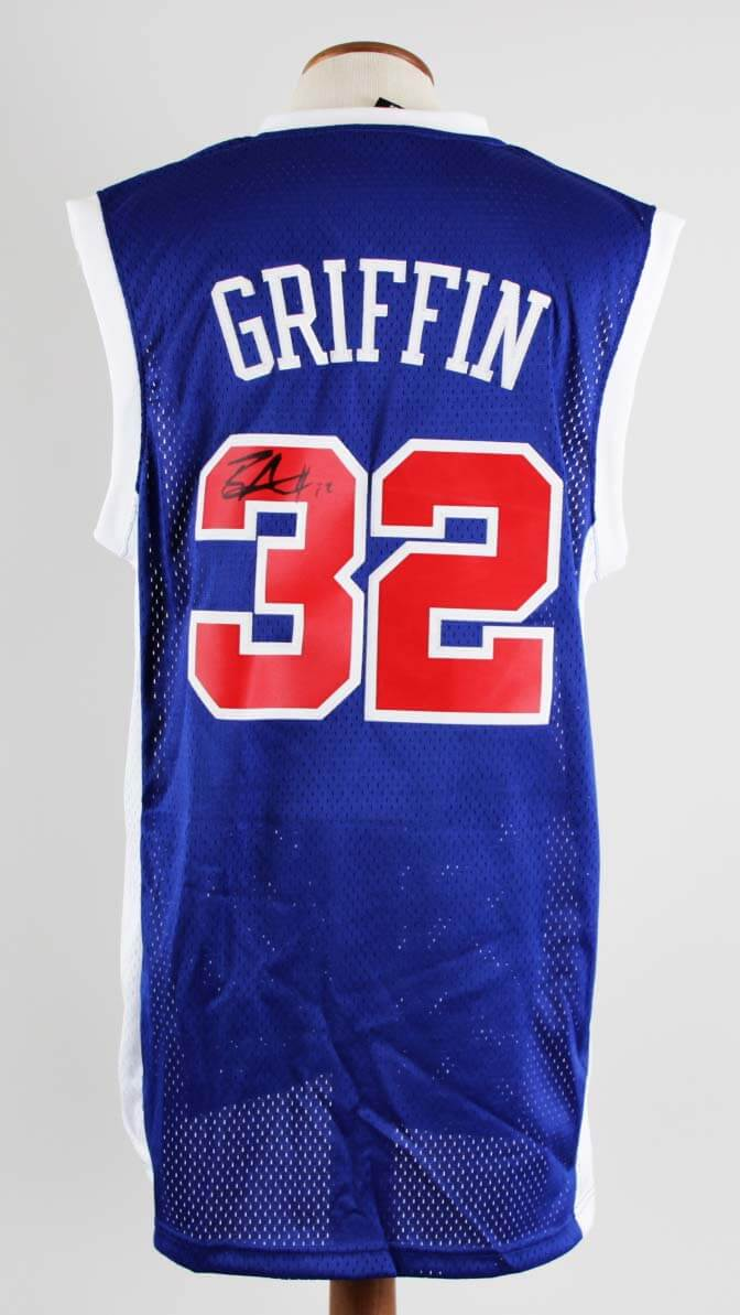 best authentic 9d00f c28fd Blake Griffin Signed Jersey Clippers - COA JSA