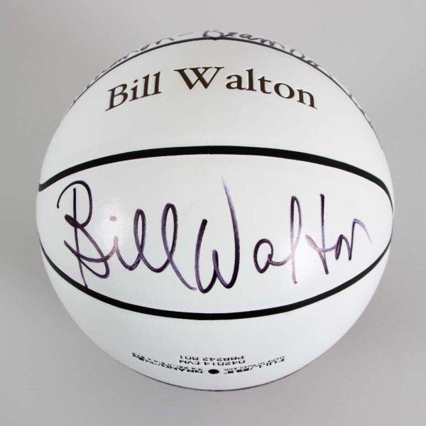 Bill Walton Signed UCLA NBA Basketball W/ Inscriptions - JSA