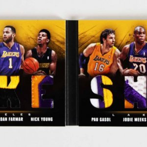 2013-14 Panini Preferred Lakers Jersey Swatch Patch Booklet Card Kobe Bryant etc. 5/25