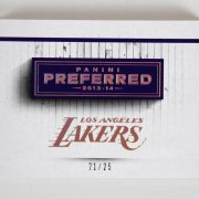 2013-14 Panini Preferred Lakers Jersey Swatch Patch Booklet Card Kobe Bryant etc. 21/25