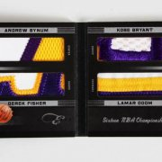 2011 Panini Black Box Elite Lakers Jersey Swatch Patch Booklet Card Kobe Bryant etc. 1/25