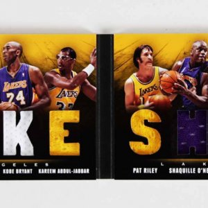 2013-14 Panini Preferred Lakers Jersey Swatch Patch Booklet Card Kobe Bryant etc. 1/49