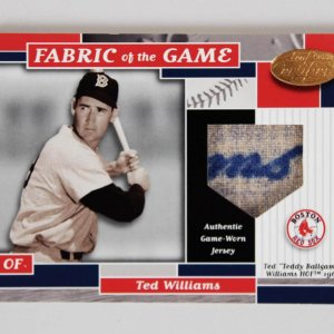 2002 Leaf Certified Ted Williams Game-Worn Jersey Card Fabric of the Game 3/5 FG-26 Auto Swatch