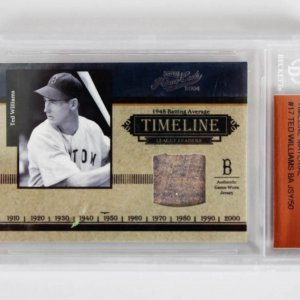 2004 Playoff Prime Cuts Ted Williams Timeline Material Card 37/50 - Beckett