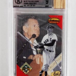 1994 Ted Williams Game-Used Bat Card 71/521 - Beckett 9 MINT