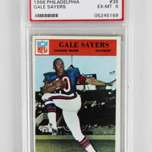 1966 Philadelphia Gale Sayers Graded Rookie Card - PSA EX-MT 6