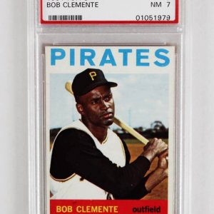 1964 Topps Bob Clemente Graded Baseball Card - PSA NM 7