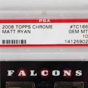 2008 Topps Chrome Matt Ryan Graded RC Card - PSA GEM MINT 10