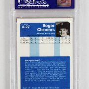 1984 Fleer Update Roger Clemens Graded Rookie Card - PSA NM-MT 8