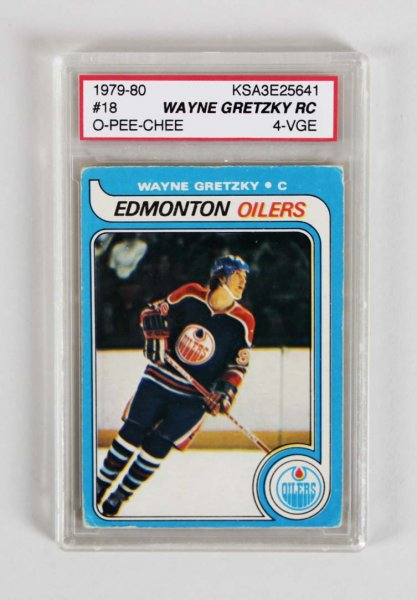 1979-80 Wayne Gretzky Graded Hockey Rookie Card - KSA