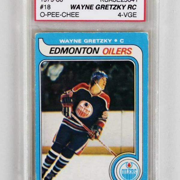 1979-80 Wayne Gretzky Graded Hockey Rookie Card - KSA