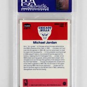 1986 Fleer Sticker Michael Jordan Graded Basketball Rookie Card - PSA NM-MT 8