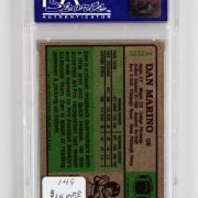 1984 Topps Dan Marino Graded Football Rookie Card - PSA NM-MT 8