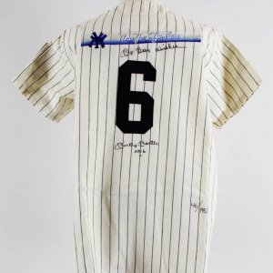Mickey Mantle Signed New York Yankees Jersey Inscribed No. 6 UDA COA 46/1951