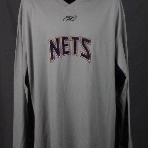 New Jersey Nets - Nenad Kristic Game-Worn Warm-Up Shirt Jersey 3XL- COA