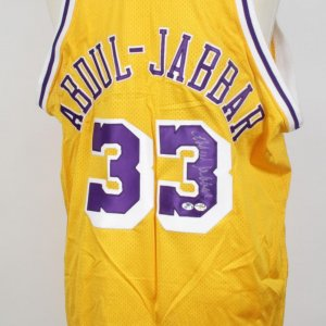 Los Angeles Lakers - Kareem Abdul-Jabbar Signed Jersey - COA