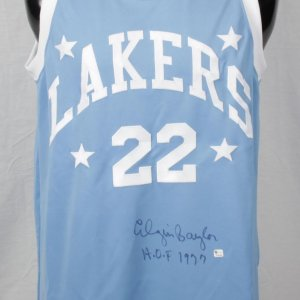 Minneapolis Lakers - Elgin Baylor Signed & Inscribed Jersey- COA GAI