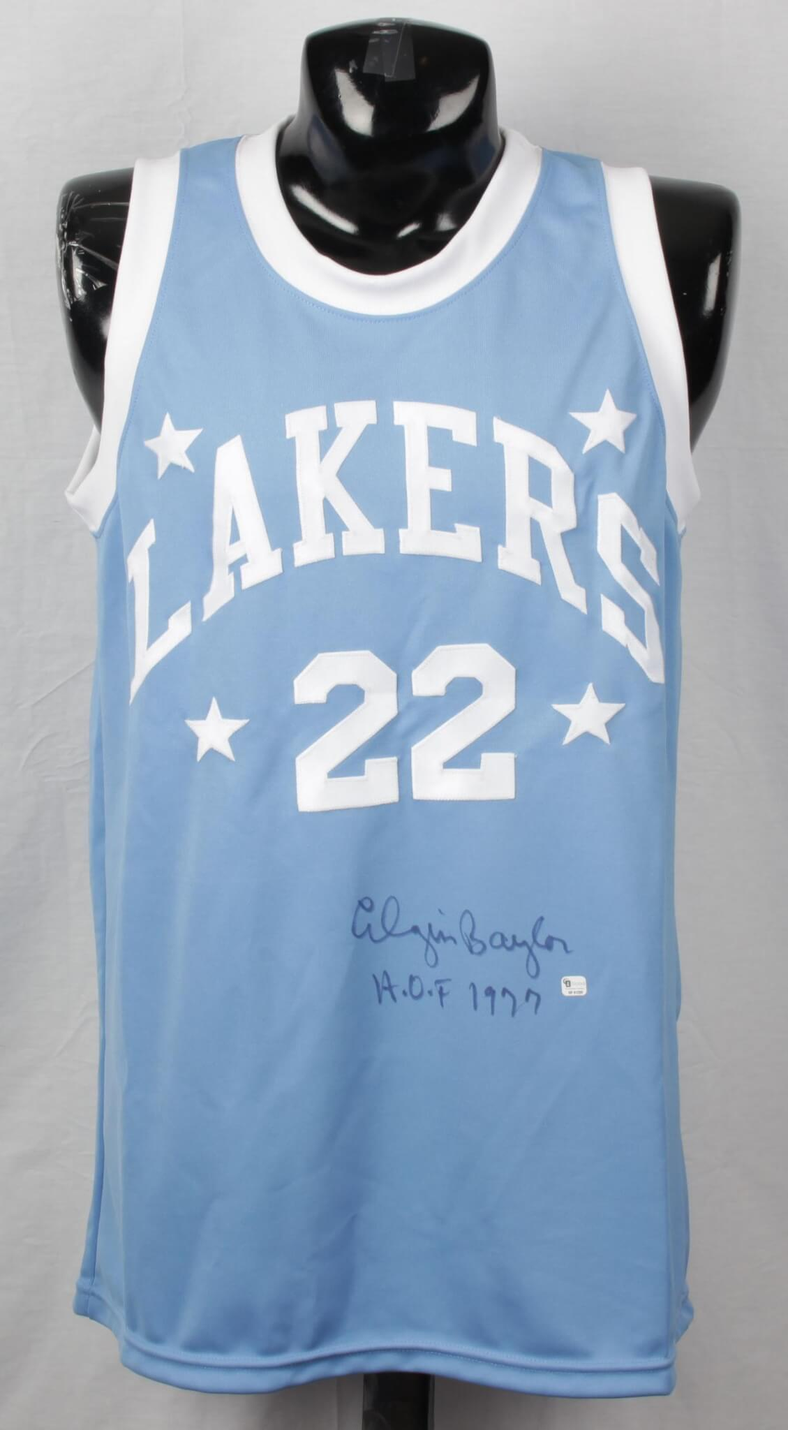 Minneapolis Lakers – Elgin Baylor Signed & Inscribed Jersey COA