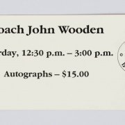 John Wooden Signed UCLA Basketball & SI Magazine - JSA