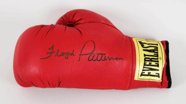 Floyd Patterson Signed Boxing Glove - JSA