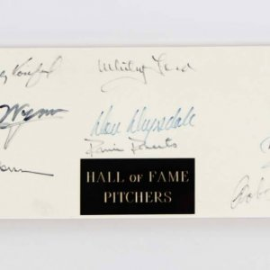 MLB Hall of Fame Pitchers Signed Pitching Rubber (16) Sandy Koufax, Warren Spahn etc. - JSA