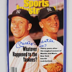 Mickey Mantle Signed & Inscribed Sports Illustrated Magazine (Newsstand Edition)