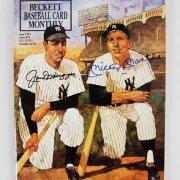 Mickey Mantle & Joe DiMaggio Signed Beckett Magazine New York Yankees - JSA