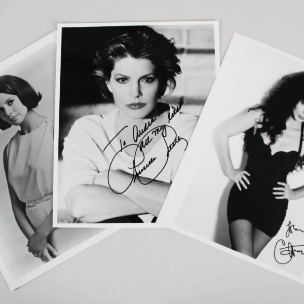 Cher, Claire Bloom & Priscilla Presley Signed 8x10 Photos - JSA