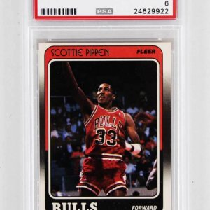 1988-89 Fleer - Scottie Pippen Rookie Card Chicago Bulls #20 PSA Graded EX-MT 6