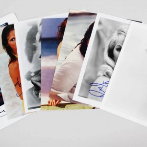Lot of (7)  Famous Actress Angelina Jolie Signed 8x10 Photos - JSA