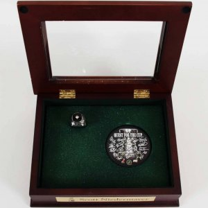 2007 Stanley Cup Champion Anaheim Ducks Presentation Ring w/Prototype Scott Niedermayer Box Balfour