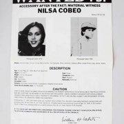 SHAKUR CONSPIRATOR NILSA COBEO BLACK PANTHER PARTY FBI WANTED POSTER *PLS OFFER