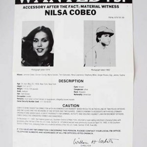 SHAKUR CONSPIRATOR NILSA COBEO BLACK PANTHER PARTY FBI WANTED POSTER *PLS OFFER