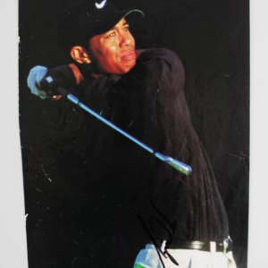 Tiger Woods Signed Golf Magazine Photo - JSA Full LOA