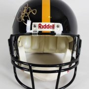 "Pittsburgh Steelers - ""Steel Curtain"" Signed Full Size Replica Helmet [Dwight White (Deceased), Ernie Holmes (Deceased) ,L.C. Greenwood (Deceased)& Mean Joe Greene]"