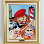 "Red Skelton Signed ""The Barber"" 14×18 Lithograph"
