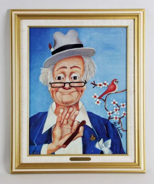 "Red Skelton Signed ""The Noble"" 14×18 Lithograph"