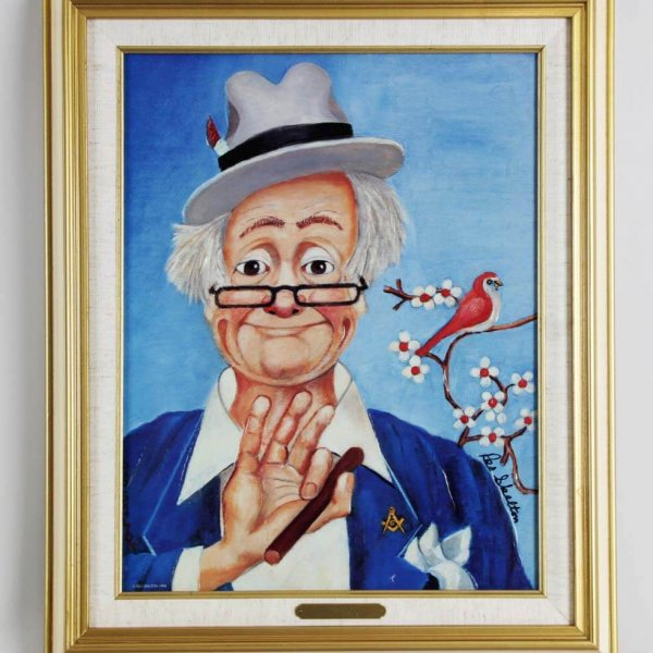 """Red Skelton Signed """"The Noble"""" 14×18 Lithograph"""