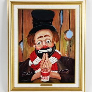 "Red Skelton Signed ""My Thanks"" 14×18 Lithograph"