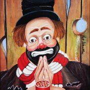 """Red Skelton Signed """"My Thanks"""" 14×18 Lithograph"""