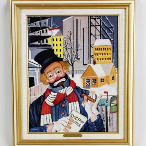 "Red Skelton Signed ""Love Thy Neighbor"" 14×18 Lithograph"