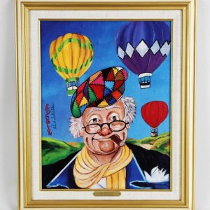 "Red Skelton Signed ""Up And Away"" 14×18 Lithograph"