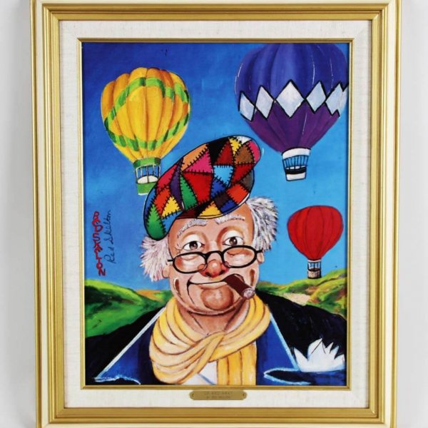 """Red Skelton Signed """"Up And Away"""" 14×18 Lithograph"""