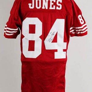 1993 Brent Jones Game-Worn, Signed San Francisco 49ers Jersey (Home)