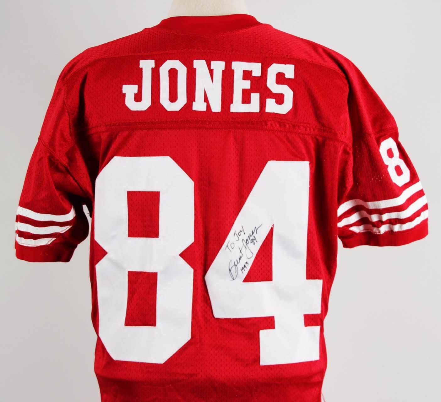 best website d55cf 48968 1993 Brent Jones Game-Worn, Signed San Francisco 49ers Jersey (Home) COA  100% Authentic Team | Memorabilia Expert