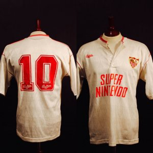 A Diego Maradona Game-Used #10 Sevilla FC Home Shirt.  1992/1993 Spanish League.