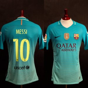 A Lionel Messi Game-Used Unwashed #10 FC Barcelona Away Shirt.  12/10/2016 Osasuna (0) v (3) Barcelona (Messi 2 Goals).